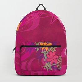 Hawaiian Lei Please Pink Tribal Backpack
