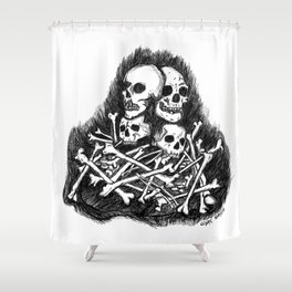 Them bones Shower Curtain