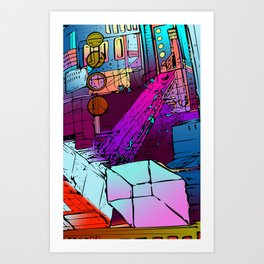 Courtyard of Thox Art Print