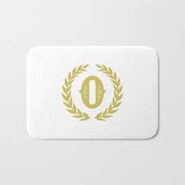 Mustard Yellow Monogram: Letter O Bath Mat