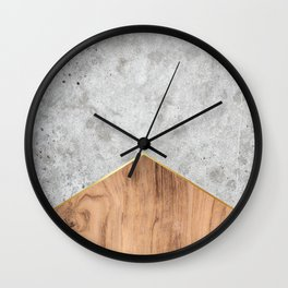 Concrete Arrow Wood #345 Wall Clock
