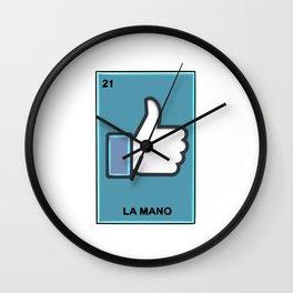La Mano Loteria Wall Clock