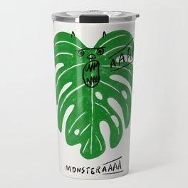 Monstera Travel Mug
