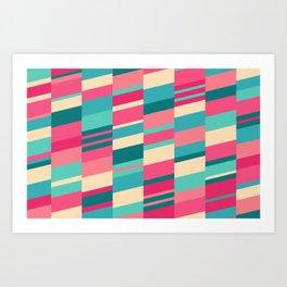 Bubblegum Strips Art Print