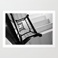 Black and White NYC Stairwell Art Print