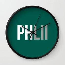 PHLII Philadelphia Wall Clock