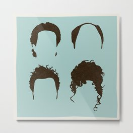 Seinfeld Hair Square Metal Print