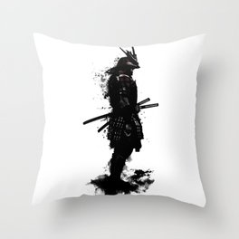 Armored Samurai Throw Pillow