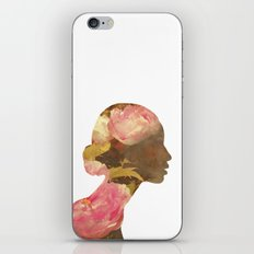 She dreams of roses - Woman portrait iPhone Skin