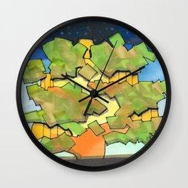 Starry Sky at Night Tree House 25 Wall Clock