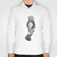 manatee Hoodies featuring Manatee by K J Guindon