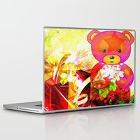 arnold Laptop & iPad Skins featuring Arnold celebrates Christmas by shiva camille