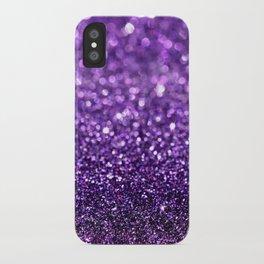 purple glitter I iPhone Case