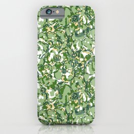 Flower Camuflage green Abstract iPhone Case