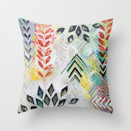 """Holocene"" Original Painting by Flora Bowley Throw Pillow"
