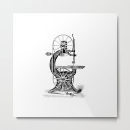 Vintage Band Saw Metal Print