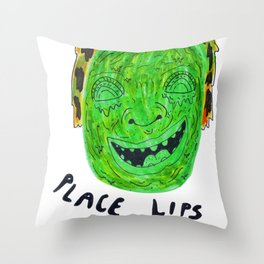 Place Lips Here Throw Pillow