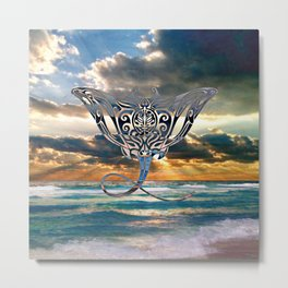 Florida Emerald Coast Stingray Metal Print