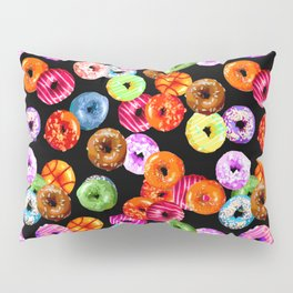 Multicolored Yummy Donuts Pillow Sham