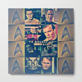 To Boldly Go Captain Metal Print