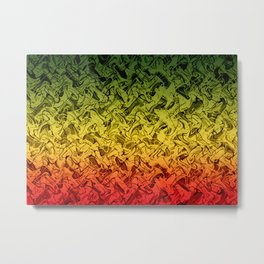 Rasta Fire Metal Print
