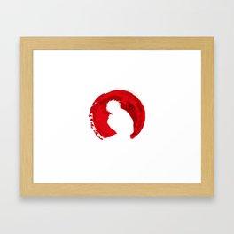 Red L Death note Framed Art Print