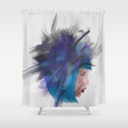 Floating head 1 Shower Curtain