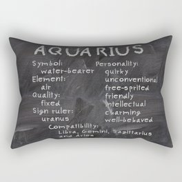 Aquarius traits Rectangular Pillow