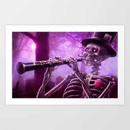 """""""Move your body!"""" - The musician skeleton Art Print"""