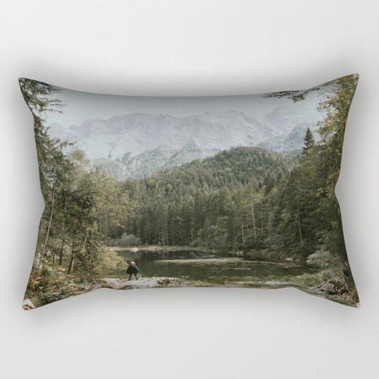Mountain lake vibes II - Landscape Photography Rectangular Pillow