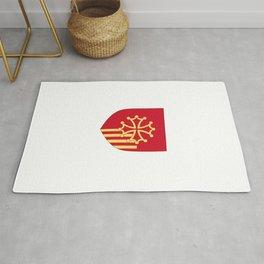 Languedoc-Roussillon symbol shield Rug