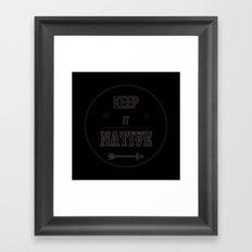 Keep It Native Framed Art Print