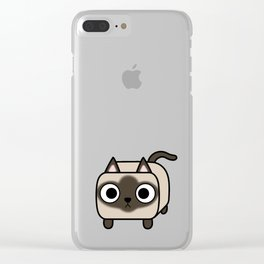 Cat Loaf - Siamese Kitty with Crossed Eyes Clear iPhone Case