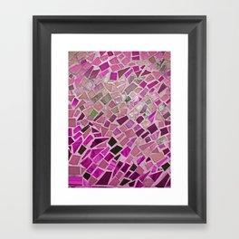 Little Pink Tiles Framed Art Print