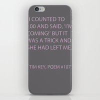 poem iPhone & iPod Skins featuring Poem #1077 by Deep Search