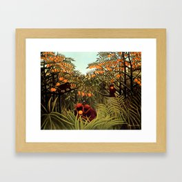 "Henri Rousseau ""Apes in the Orange Grovee"", 1910 Framed Art Print"