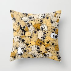 pug world Throw Pillow