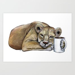 """Lazy Lioness"" - Java Jungle collection Art Print"