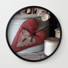 Vintage Heart Vignette Wall Clock