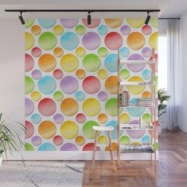 Rainbow Polka Dots Wall Mural