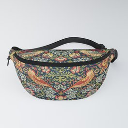 Strawberry Thief by William Morris 1883 Antique Vintage Pattern CC0 Spring Summer Fanny Pack