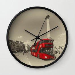 Trafalgar New Bus for London Wall Clock