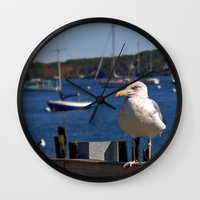 maine Wall Clocks featuring Maine Local by Catherine1970