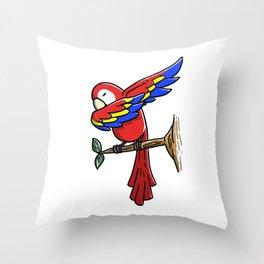 Funny Dabbing Parrot Bird Pet Dab Dance Throw Pillow