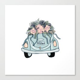 Hitched-Wedding print Canvas Print
