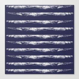 Irregular Stripes Dark Blue Canvas Print