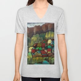 Village by Dennis Weber of ShreddyStudio Unisex V-Neck