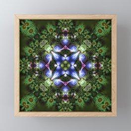 Fractal Forest Indigo Framed Mini Art Print