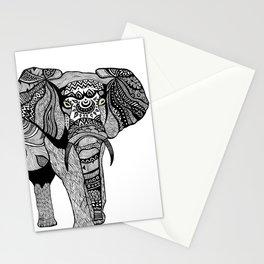 Elephant of Namibia (black & white) Stationery Cards