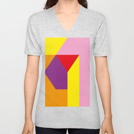 Geometrical, random, colorful, triangles, diagonal, etcetera.... No ideas for a title right now... s Unisex V-Neck